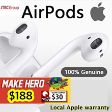 Apple AirPods Wireless headset ★1 year SG APPLE warranty★ BEST SELLING!  WIRELESS