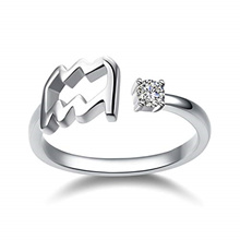 CloseoutWarehouse Micro Pave Clear Cubic Zirconia Hanging Star Ring Sterling Silver