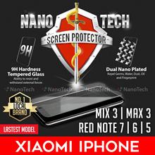 Nanotech Tempered Glass Screen Protector Xiaomi Redmi Note 7/6 Pro/4X/4/Mi Mix 3/Max 3/5/ F1