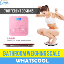 Weighing Scale Bathroom Digital Weight Tempered Glass LED backlight LCD Electronic Machine Travel Kitchen Portable Body Personal Free Battery Home luggage Health Water Fat