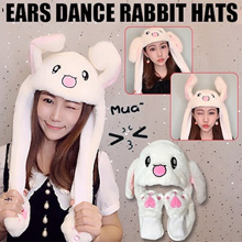 Christmas gifts Ears Move Dancing Rabbit Cute Hat Girls Party Cosplay Girl Props toy  childrens day