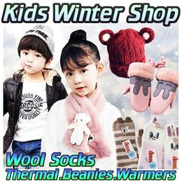 Kids-Teenagers 2-16 Yrs Old Winter Thermal Wear Gloves Beanie★Wool Socks★Gloves★Warmer★ Jacket★
