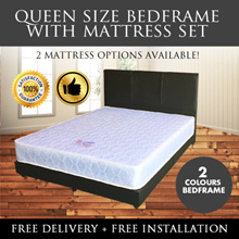 ★Singapore Mattress★QUEEN Bed Frame + Spring Mattress★2 Mattress Available / FREE DELIVERY + INSTALL