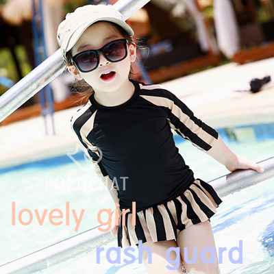 d65e3d9a40 ☆MADE IN KOREA☆baby girl rash guard swimwear Age2-8year children clothing  swimsuit