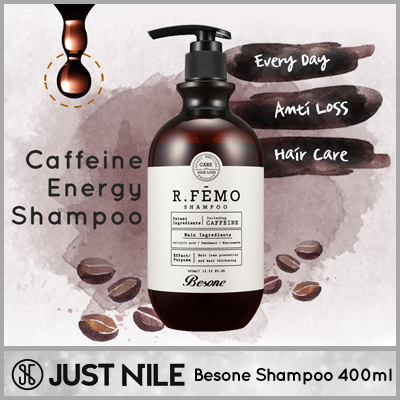 FREE SHIPPING!!K-Beauty Besone R.Femo Caffeine Energy Shampoo 400ml/ Hair Thickening Anti HAIR LOSS from Korea Deals for only S$14.9 instead of S$0