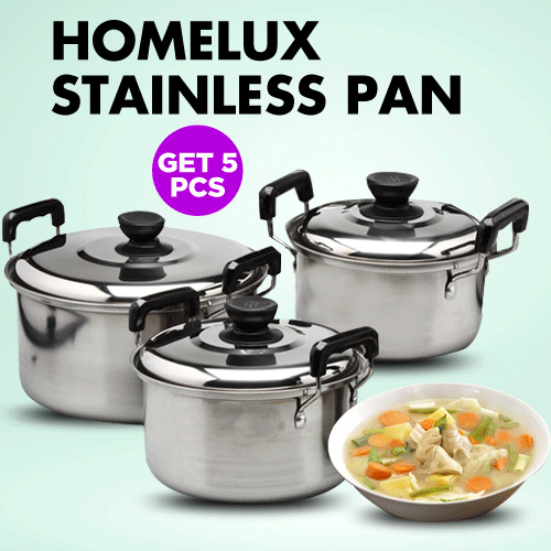 HOMELUX Panci Stainless 5 Set Deals for only Rp119.000 instead of Rp228.846