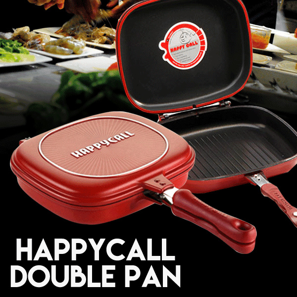 Happy Call Double Pan Jumbo Size 32cm Deals for only Rp285.000 instead of Rp285.000