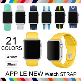[JD] APPLE iWatch 1/2/3 42mm 38mm Apple watch Strap Wrist Leather Silicone Silicon Strap [SG Sales]