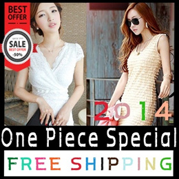 ★2014 New second week of March★ One Piece / dress / girly / Spring fashion / Free Shipping