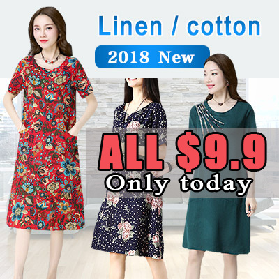 ?Price Down For Super Sale?Real Flat Price!!?Buy 3 Free Shipping?2018 new arrival cotton and linen s Deals for only S$35 instead of S$0