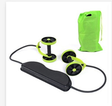 Ab Roller Wheel with Mat Abdominal Trainer Wheel Arm Waist Leg Exercise Multi-functional Fitness Equ