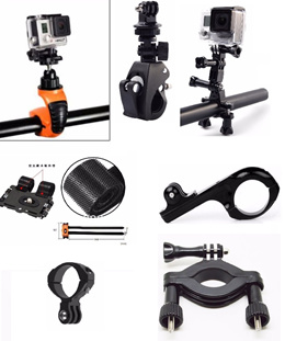 For GoPro Handle Bar / Roll Bar Mount and Clamp