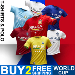 Buy 2 Free Shipping World Cup T-Shirts and Polo Shirts Messi Neymar  282ac3b4ebb42
