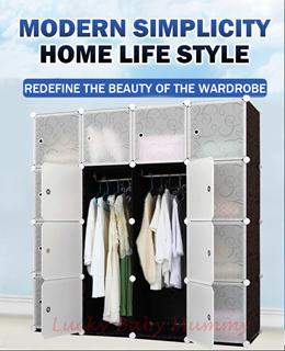 【Basic Cube Storage】DIY Modular Cube Storage Cabinet System Rack/Box/Storage/ Shelf/Wardrobe