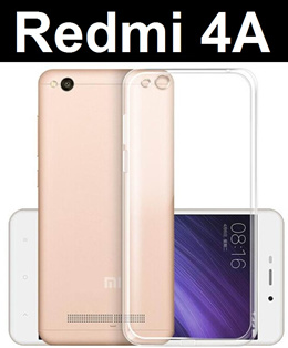 Xiaomi Redmi 4A Transparent Crystal Clear Case Casing Tempered Glass Screen Protector