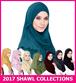 [ READY STOCK ] Premium Quality Pearl Chiffon / Mos Crepe Instant Shawl / Tudung / Muslimah Hijab