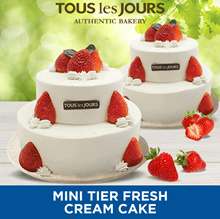 [DESSERT] Mini Tier Fresh Cream Cake /Tous Les Jours /TLJ