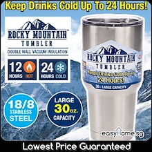 Rocky Mountain Tumbler / Vacuum Cup Mug Water Bottle / Keep Drinks Cold Hot /Stainless Steel