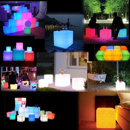 LED Outdoor Party Stool Light Chair Waterproof Bar Creative Color Remote Control USB Charging Meetin