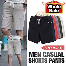 cotton shorts men#39s summer fashion 5 points youth loose beach pants casual 100% cotton shor