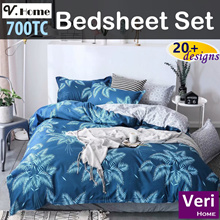 ★11 Oct updated trendy designs! 700TC! Cheap n good! ★【V-home Fitted Bedsheet set】