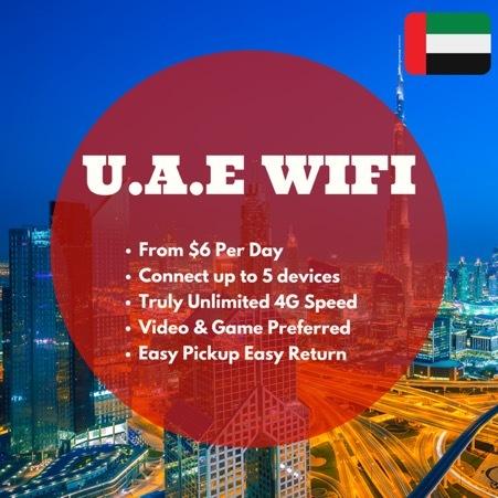 WiFi【U A E WiFi Service 1-30 Days】Cheaper and Connivence than U A E SIM  Card Truly Unlimited 4G Data