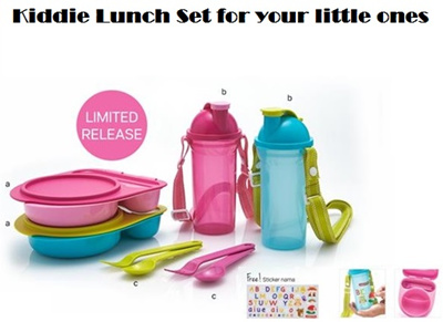 Clearance Sales*Authentic Tupperware Kiddie Lunch Box Set * Lunch Box with Water Bottle and
