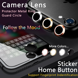 [JD]🔥CameraHome Button🔥Metal Ring Guard Circle Sticker support Fingerprint Indentification For App
