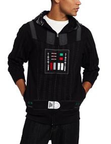 Star Wars Men s&quot I am Darth Vader&quot Fleece Hoodie Coat Sweatshirt Cosplay Costume