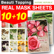Qoo10 Lowest Price ★10+10★Nature Republic★1 SET=10 SHEETS★Real Nature Mask[Beuati Topping]