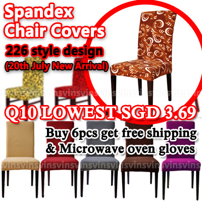 [VINS]?Q10 Quick Shipping?Lowest Price?Free shipping for 6pcs and above!?Chair Covers?226 style Colors Polyester Spandex Dining?For Wedding Party Chair Cover Brown Dining Chair Covers Deals for only S$17.8 instead of S$17.8