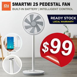 [October Special] ★ Xiaomi Smartmi Fan with Built-in Battery Smart APP Controls and Oscillation Mode
