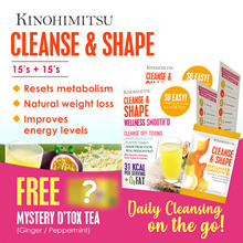 Kinohimitsu Cleanse n Shape (2 Boxes Special) *SlimmingnDtox* + Wonder Box Dtox Tea 14s