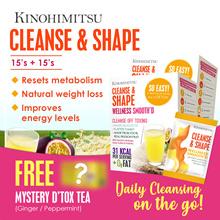 Kinohimitsu Cleanse n Shape (2 Boxes Special) *SlimmingnDtox* + Wonder Box Dtox Tea 14s