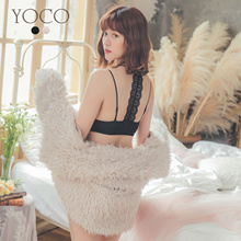YOCO - Venus Shoulder Strap Beauty Back Front Button Bra-190329
