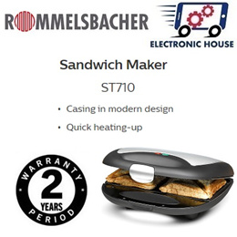★ Rommelsbacher ST710 Sandwich Maker ★ (2 Years Singapore Warranty)