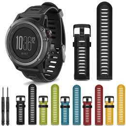 Garmin Fenix 3 5X Silicone strap Band 12 Colors 26mm Width Outdoor Sport Silicone Watchband