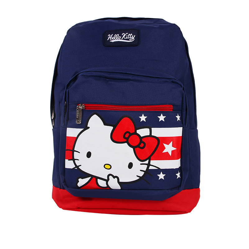 【Hello Kitty官方授權】女兒童書包 中小學生書包 韓版雙肩甜美休閒背包H64532 寶藍色