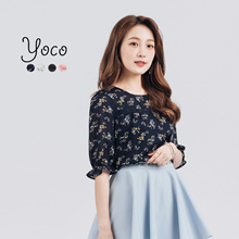 YOCO - Blouse with Sweetheart Detail-170544