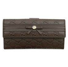 Gucci GUCCI double fold wallet W Hokkusuma 256933 AA61G 2019 ladies dark brown