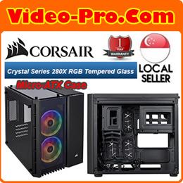 Corsair Crystal Series 280X RGB Tempered Glass Micro-ATX Case Computer Case