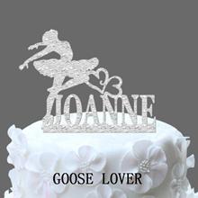 Ballerina Dancer Wedding Cake Topper Personalized Name Cake Topper  Birthday Cake Topper Monogram