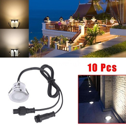 10PCS 32mm LED Deck Lights 6W 500LM SMD2835 Small Recessed In-ground Underground IP67 Waterproof Spo
