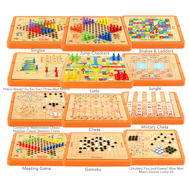 Lifehacks★ 4-in-1 or 10-in-1 Assorted Board Games ★ Educational • Relive  Your Childhood with Your Kids!