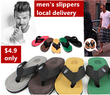 Local seller Summer mens slippers beach holiday slippers Beckham with the paragraph