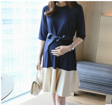 Korean Style Trendy Maternity Nursing Breastfeeding Dress Wear 4 Office NoHiddenFees FreePostage