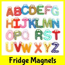 ★Fridge Alphabet Animals Fish Wood Magnets★Cute Cartoon★Kids Baby Child Children★Birthday Goodie Bag Gift★Educational Toy★