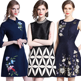 5cf145e1a828f Premium High quality dress elegant dress European British style Office dress Longer  dress plus size dress
