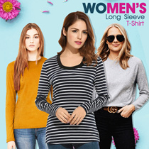 New Collection..!!! Women Long Sleeve T-Shirt/6 Color/Women T-Shirts/Branded T-Shirts