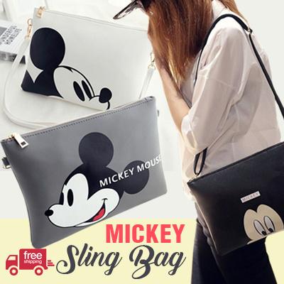 MICKEY SLING BAG / SHOULDER BAG / 3 COLORS / tas wanita tas slempang sling bag Deals for only Rp119.000 instead of Rp119.000